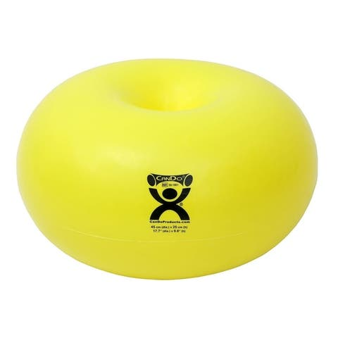 CanDo Donut Exercise, Workout, Core Training, Swiss Stability Ball for Yoga, Pilates, Balance Training. Green, 65 cm W x 35 cm
