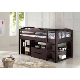 Addison Junior Low Loft Bed with Storage Drawers, Desk and Bookshelf (2 options available)