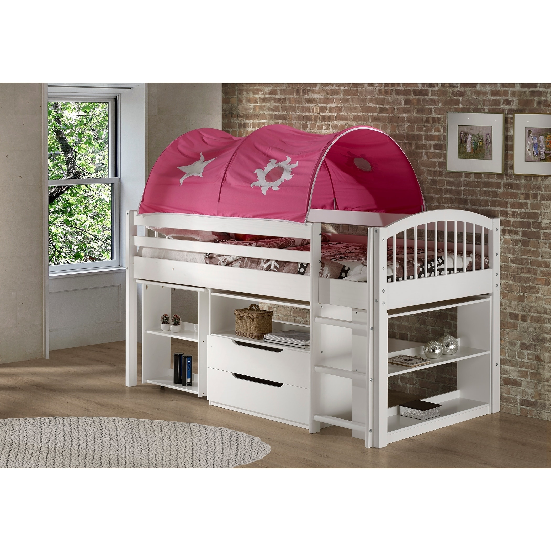 Low Loft Bed With Storage Drawers