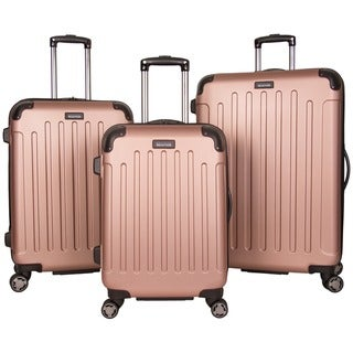 """Kenneth Cole Reaction Renegade 3-Piece 20""""/24""""/28"""" Lightweight Hardside Expandable 8-Wheel Spinner Luggage Set - Multiple Colors"""
