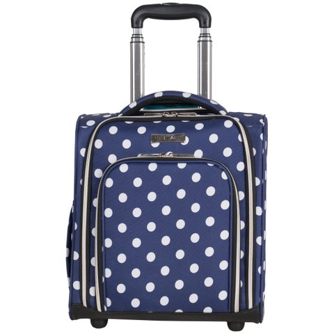 """Heritage """"Albany Park"""" 16-Inch Polka Dot Printed 2-Wheel Underseater Carry-On Suitcase"""