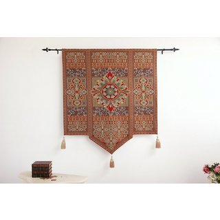Morocco Wall Tapestry with Gold Tassels