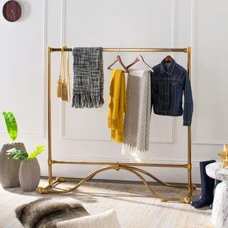 "happimess Lila 57.2"" Modern Coat Rack, Brass"