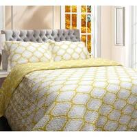 DriftAway 3 Piece Geometric Quilt Set/ Coverlets, 100% Cotton Cover