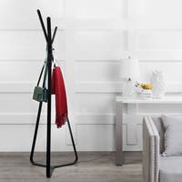 "happimess Mason 3-Hook 73.6"" Contemporary Metal Coat Rack, Black"