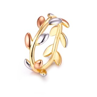 Gold Plated Delicate 3 tone Vine Ring (More options available)