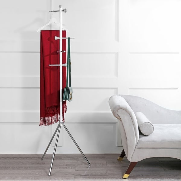 Shop Happimess Aiden 40040 40Hook Metal Coat Rack White On Sale Enchanting Room And Board Coat Rack