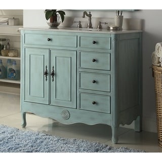 38'' Daleville Bathroom Sink Vanity with MIR/BS - Light Blue