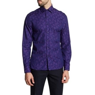 Floral Jacquard Fabric Dress Shirt