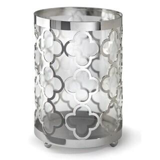 Small Nickel and Glass Quatrefoil Lantern