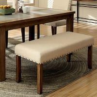 Furniture of America Veronte Contemporary 44-inch Linen Bench