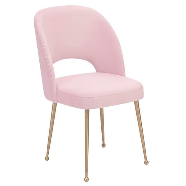 Swell Blush Velvet Chair. Opens flyout.