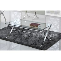 Best Master Furniture Glass Rectangular Coffee Table