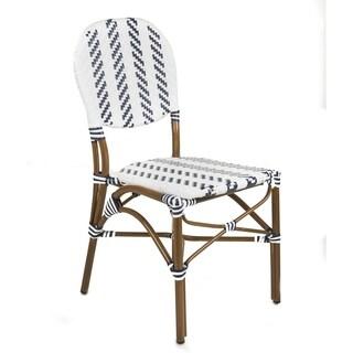 Cafe Bistro Indoor/Outdoor Aluminum/PVC Wicker Rattan Dining Chair