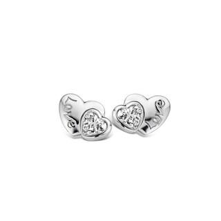 Kipling Children Sterling Silver Heart Love Cz Earrings