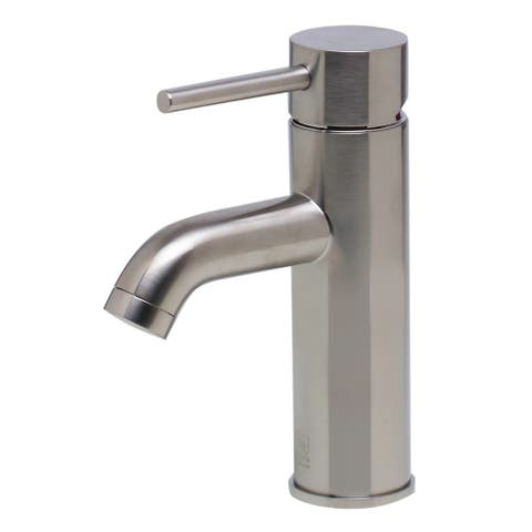 ALFI brand AB1433-BN Brushed Nickel Single Lever Bathroom Faucet - Silver