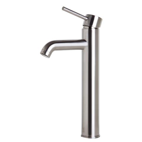 ALFI brand AB1023-BN Tall Brushed Nickel Single Lever Bathroom Faucet - Silver