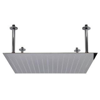 "ALFI brand RAIN24S-PSS 24"" Square Polished Rain Shower Head"