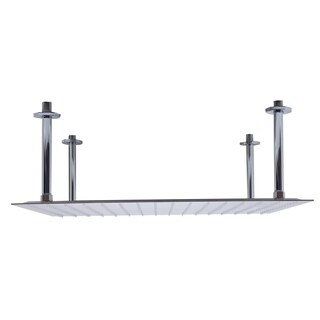 """Link to ALFI brand RAIN24S-BSS 24"""" Square Brushed Rain Shower Head Similar Items in Showers"""