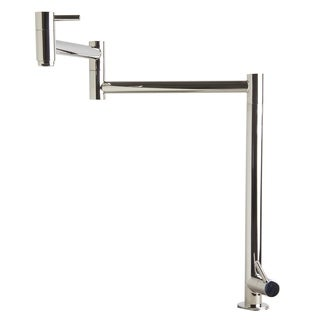 ALFI brand AB5018-PSS Polished Stainless Steel Retractable Pot Filler Faucet