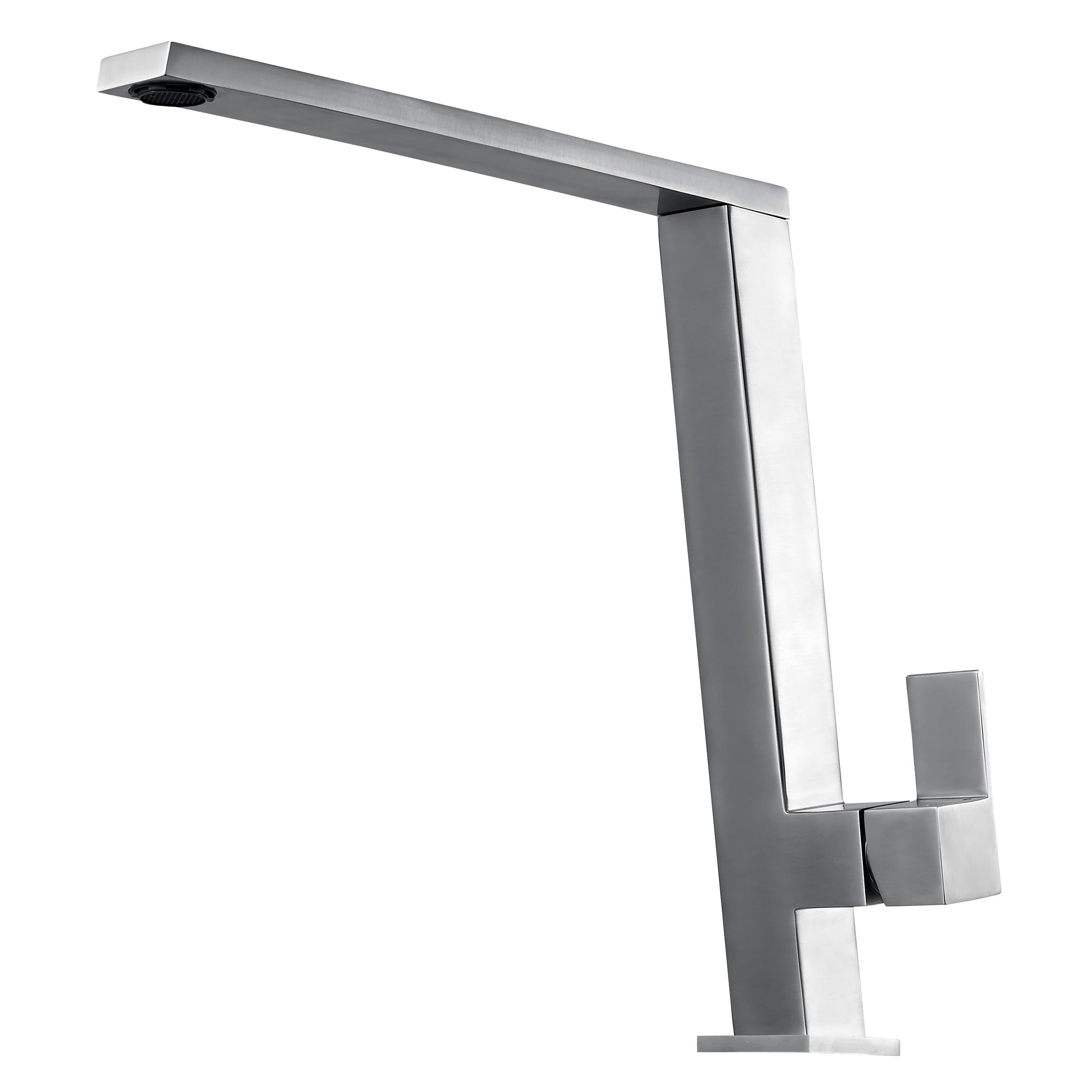 Alfi Brand AB2047 BSS Fancy Square Brushed Stainless Steel Kitchen Faucet