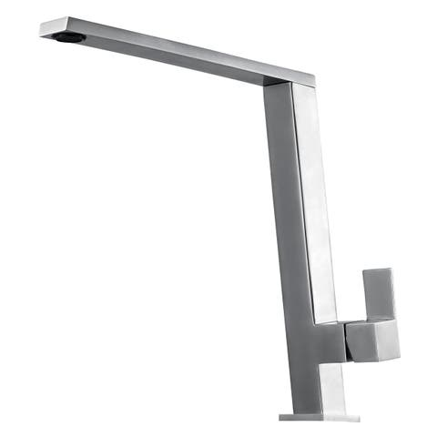 ALFI brand AB2047-BSS Square Modern Brushed Stainless Steel Kitchen Faucet