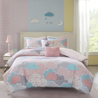 Urban Habitat Kids Bliss Pink Cotton Printed 5-piece Duvet Cover Set
