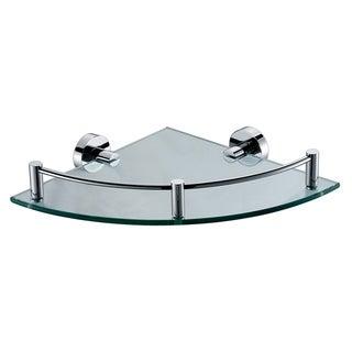 ALFI brand AB9546 Polished Chrome Corner Mounted Glass Shower Shelf Bathroom Accessory