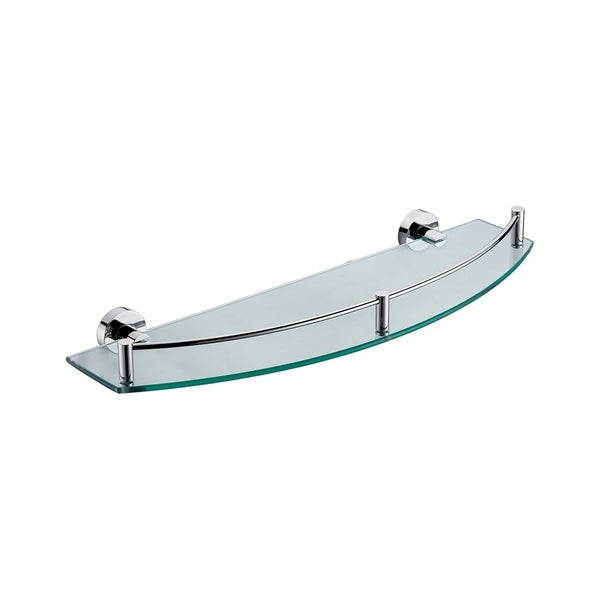 ALFI Brand AB9547 Polished Chrome Wall Mounted Glass Shower Shelf Bathroom  Accessory