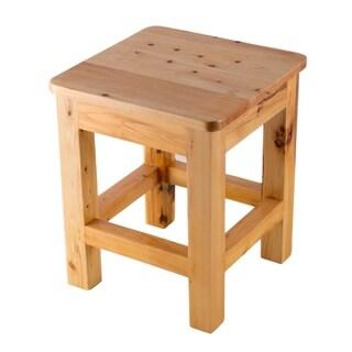 """ALFI brand AB4407 10""""x10"""" Square Wooden Bench/Stool Multi-Purpose Accessory"""