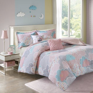 Urban Habitat Kids Bliss Pink Cotton Printed 5-piece Comforter Set