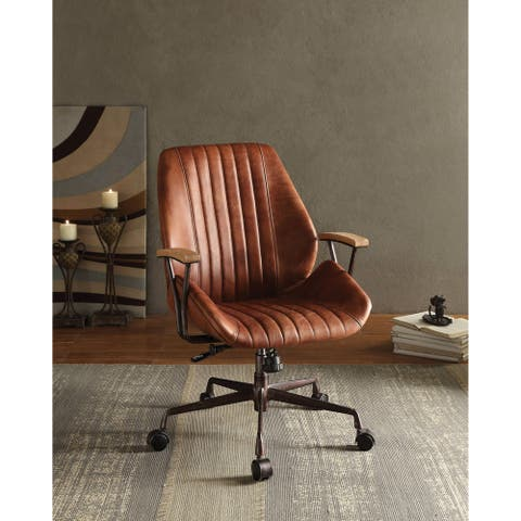 ACME Hamilton Executive Office Chair, Cocoa Top Grain Leather