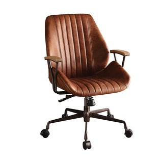 ACME Hamilton Executive Office Chair, Cocoa Top Grain Leather