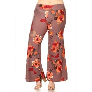 Women's Plus Size Floral Pattern Pants
