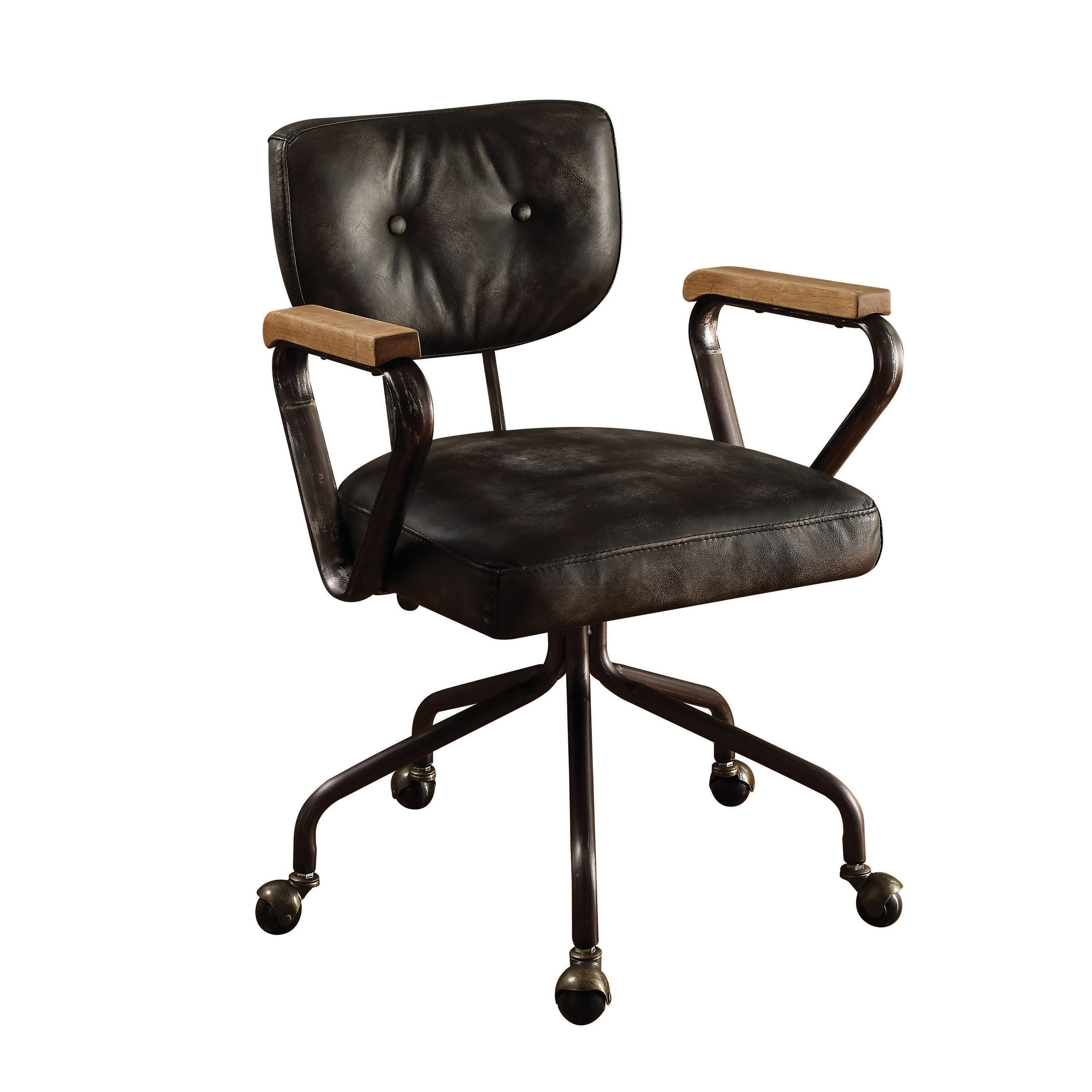 Marvelous Acme Hallie Executive Office Chair Vintage Black Top Grain Leather Gamerscity Chair Design For Home Gamerscityorg