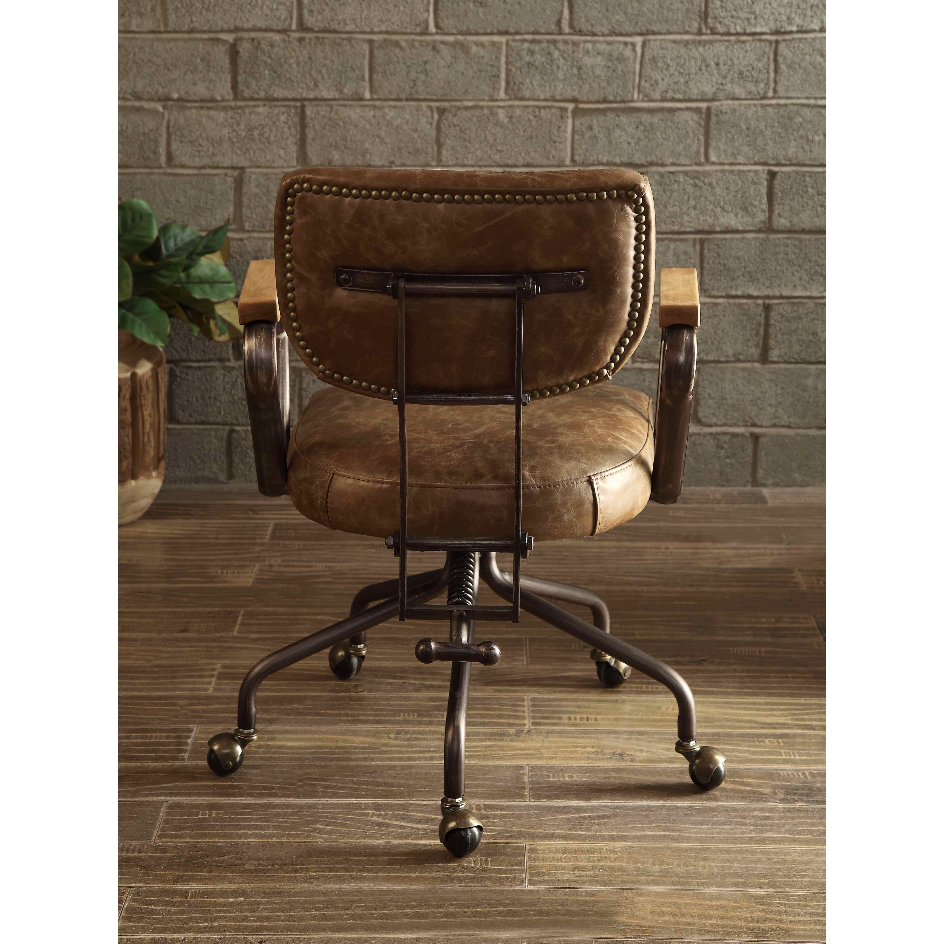 Shop Black Friday Deals On Acme Hallie Executive Office Chair Vintage Whiskey Top Grain Leather On Sale Overstock 19398757