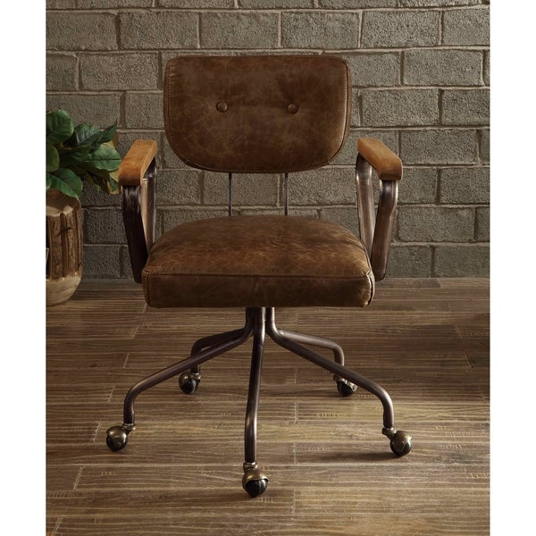 Fine Shop Acme Hallie Executive Office Chair Vintage Whiskey Top Interior Design Ideas Inesswwsoteloinfo