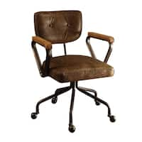 ACME Hallie Executive Office Chair, Vintage Whiskey Top Grain Leather