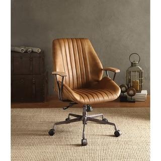 ACME Hamilton Executive Office Chair, Coffee Top Grain Leather