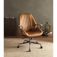 ACME Hamilton Executive Office Chair, Coffee Top Grain Leather