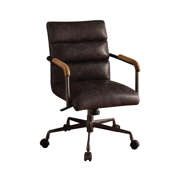 leather antique wood office chair leather antique. ACME Harith Executive Office Chair, Antique Ebony Top Grain Leather - N/A Leather Antique Wood Office Chair