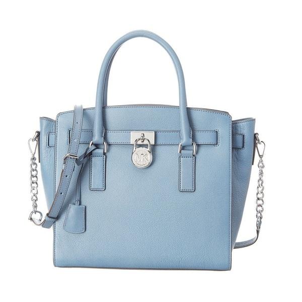 e86c296b5e69 Shop Michael Kors Hamilton Large East West Denim/Blue Satchel Handbag -  Free Shipping Today - Overstock - 19398791