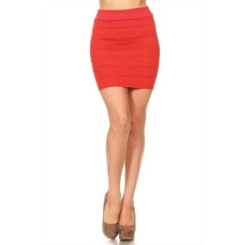 Women's Solid Glitter Finish Mini Skirt