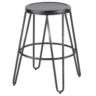 Link to Avery Industrial Metal Fixed Counter Height Stool by LumiSource (Set of 2) Similar Items in Dining Room & Bar Furniture