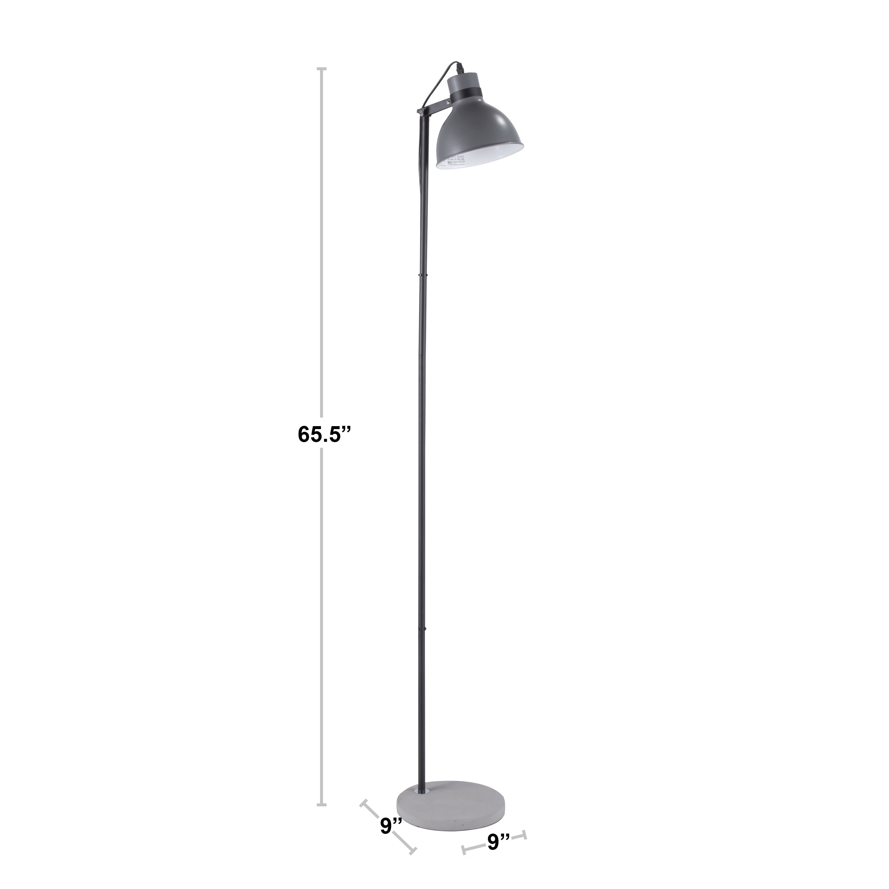 Shop Black Friday Deals On Lumisource Concrete Industrial Floor Lamp In Black And Grey On Sale Overstock 19398976