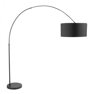 Salon Contemporary Floor Lamp with Black Metal Base