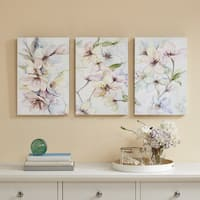 Madison Park Nectar Florals Multi Hand Embellished Canvas 3 Piece Set