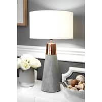 "Watch Hill 25"" London Concrete with Copper Cotton Shade Table Lamp"