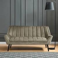 Carson Carrington Abytorp Mink Grey Velvet Sofa