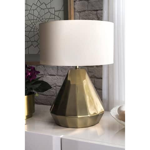 "nuLOOM 20"" Kimberly Aluminum Cotton Shade Table Lamp"